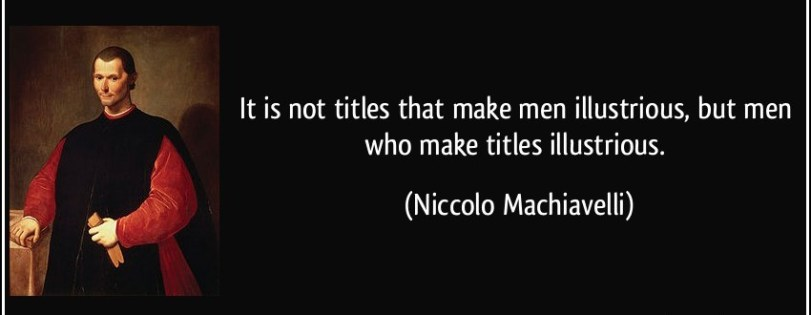 Men and Titles -